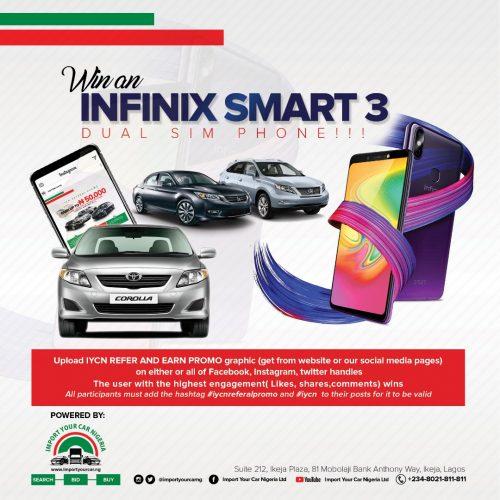 IYCN Win A SmartPhone Promo – Import Your Car Nigeria Ltd