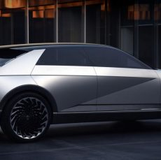 The Hyundai 45 electric concept car has been unveiled at the Frankfurt Motor Show, showcasing the firm's design language for its forthcoming electric vehicles.